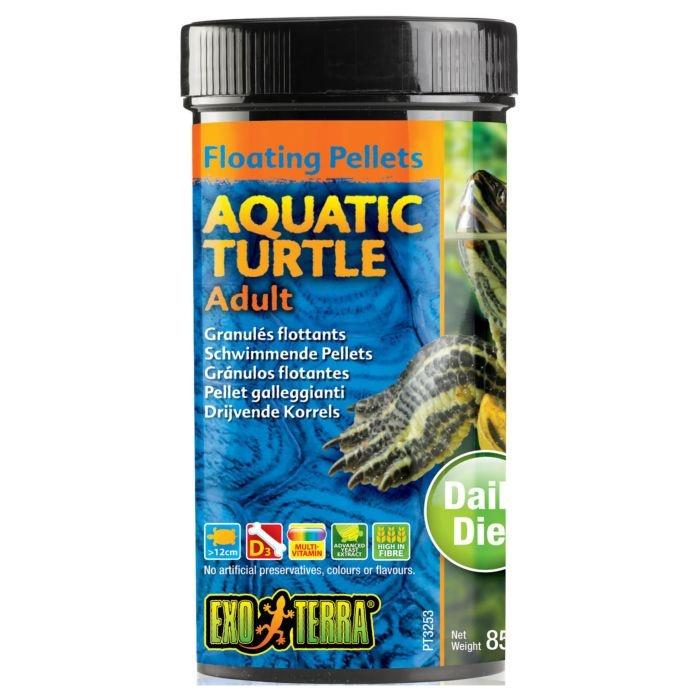 Barība rāpuļiem - Exo Terra Aquatic Turtle Food Adult 85 g