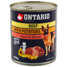 Konservi suņiem - Ontario Adult Beef and Potatos, Sunflower Oil, 800 g