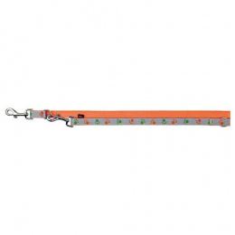 Atstarojošā pavada suņiem - TRIXIE Silver Reflect Adjustable Lead, XS-S, 2 m