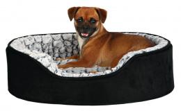 Guļvieta suņiem - Trixie Lino vital bed, 60*45 cm, melna/pelēka krāsa