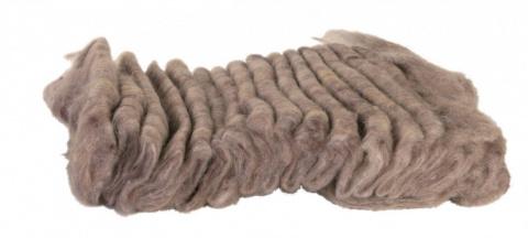Aksesuārs grauzēju būrim - Wooly for Hamster's bed / Vate būriem 20 gr (brūna)  title=