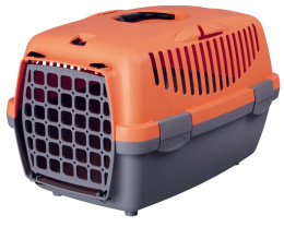Transportēšanas bokss - Trixe Capri I, 48x32x31 cm, krāsa - oranža/pelēka