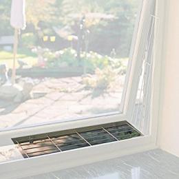 Aksesuārs kaķiem - Trixie loga aizsargreste augšējai daļai, 65x16 cm, krāsa - balta