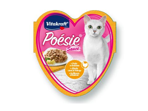 Konservi kaķiem - Vitakraft Poesie Turkey in cheese Sauce, 85g