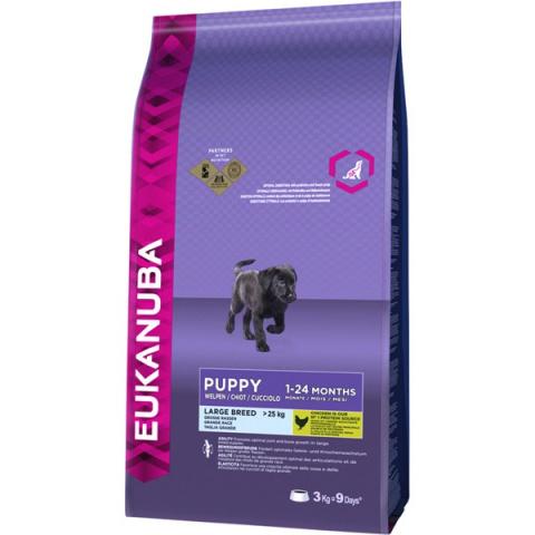 Barība suņiem - Eukanuba Puppy & Junior Large Breed, 3 kg title=
