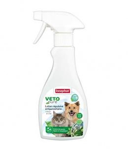 Līdzeklis pret blusām, ērcēm, odiem - Beaphar Veto Pure, bio aerosols pret parazītiem, 250 ml