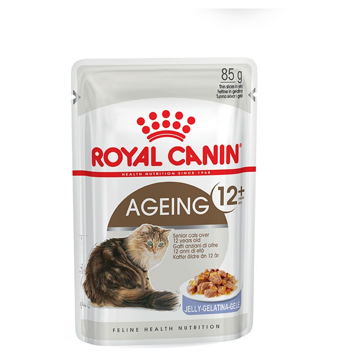 Konservi kaķiem - Royal Canin Feline Ageing +12 (želejā), 85 g