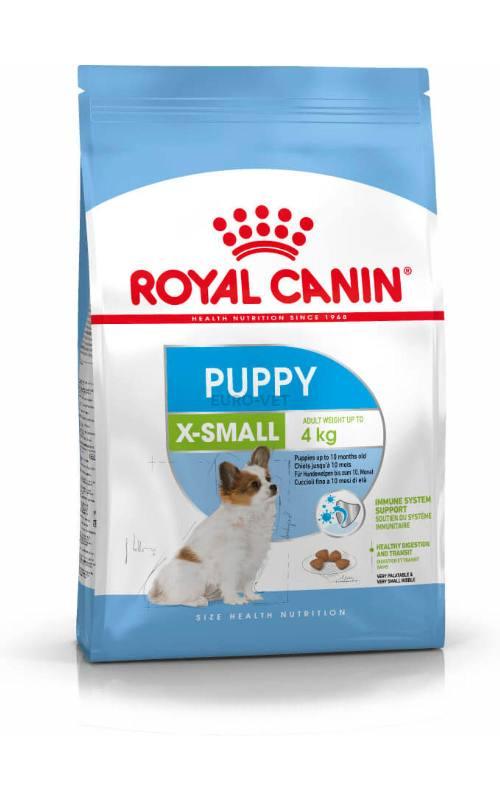 Barība kucēniem - Royal Canin X-Small Junior, 0.5 kg