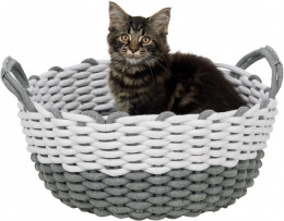 Guļvieta kaķiem – TRIXIE Nabou Basket, 45 cm, Grey/White
