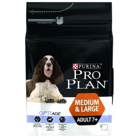 Barība suņiem - Pro Plan Medium & Large Adult 7+ Chicken, 3 kg