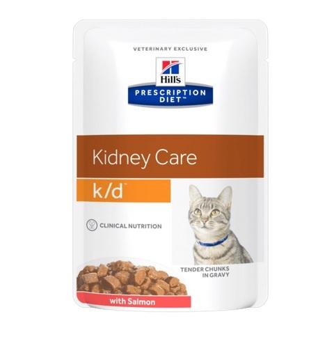 Veterinārie konservi kaķiem - Hill's Feline k/d salmon, 85g