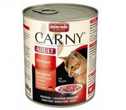 Konservi kaķiem - Carny Adult Pure Beef, 800 g