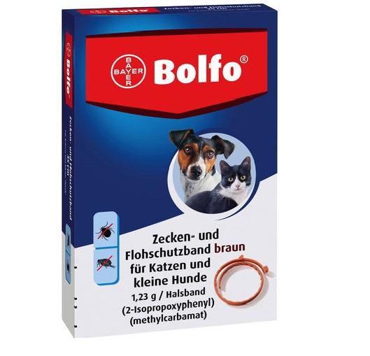 Kaklasiksna pret blusām un ērcēm kaķiem un maza auguma suņiem - Bolfo 35-38 cm, bezrecepšu vet.zāles reģ. NR - VA - 072463/3