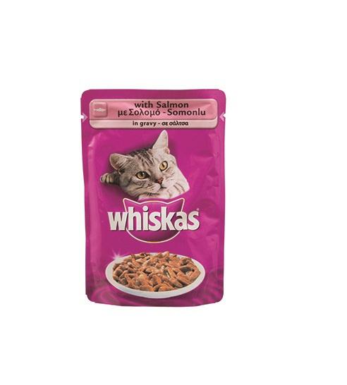 Консервы для кошек - Whiskas Adult с лососем, 100г