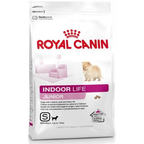 Корм для собак - Royal Canin Indoor Life Junior Small dog 1.5kg