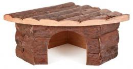 Аксессуар для клетки грызунов - Угловой домик, деревянный, 42*15*30/30 cm