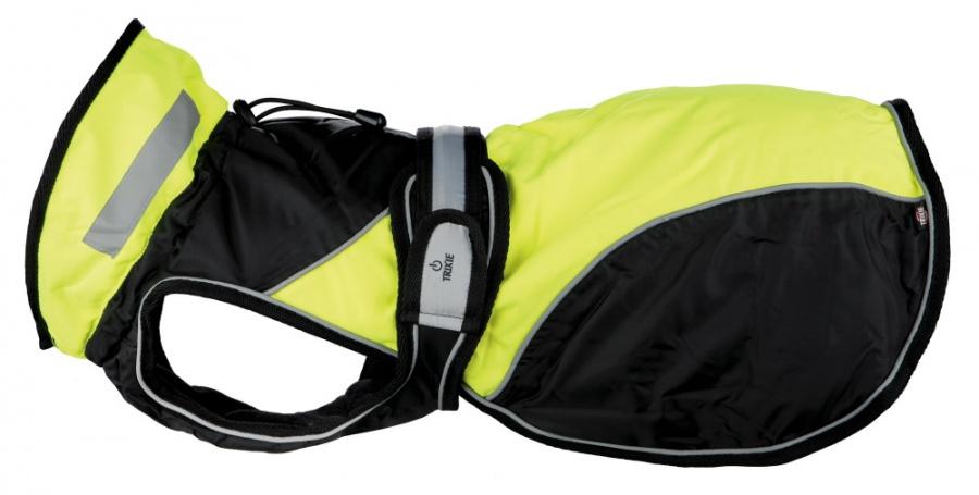 Пальто для собак - Safety Flash coat, M, 45 cm, черный/желтый