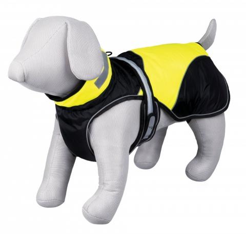 Пальто для собак - Safety Flash coat, XS, 30 cm, черный/желтый