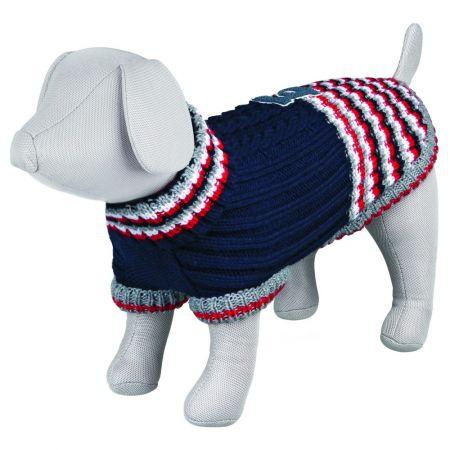 Джемпер для собак - Pinerolo Pullover, XS, 27cm, синий/красный/белый