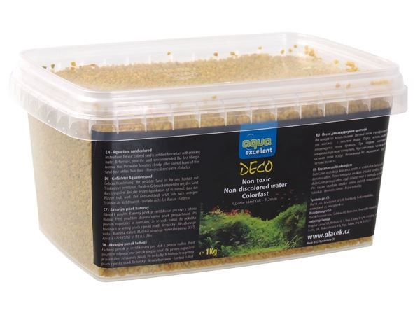Грунт для аквариума - Aqua Excellent желтый/ванильный, 1 kg