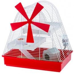 Клетка для хомяков - Ferplast Magic Mill White 46*29,5*46,5 см (красный)