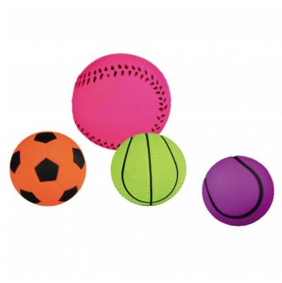 Игрушка для собак - Trixie Assortment Toy Balls, Foam Rubber, 3.5/4.5 cm