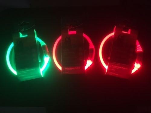 Светящийся oшейник - Trixie USB Flash Light Ring, розовый, 35 cm