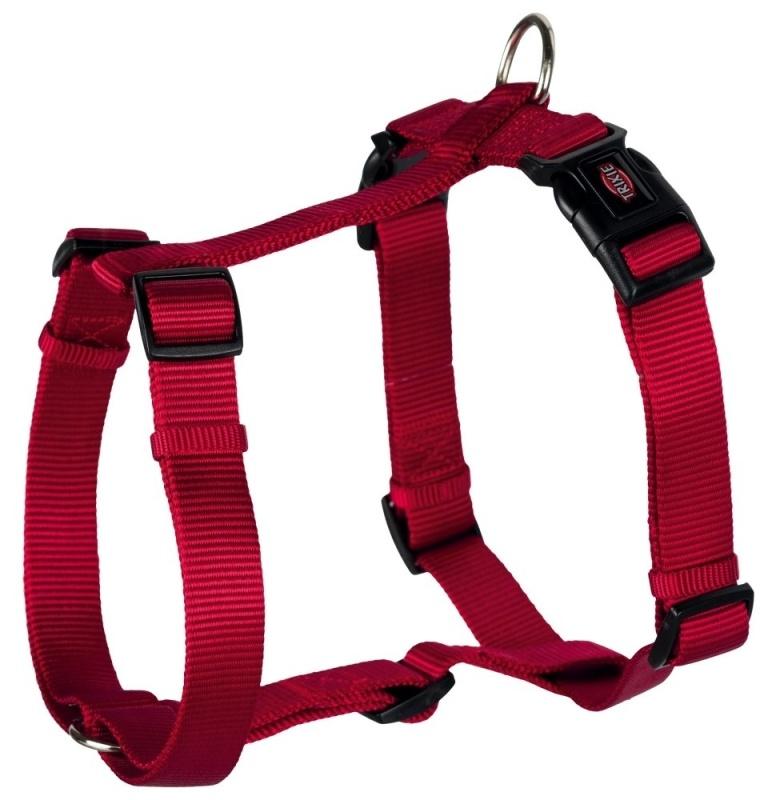 Шлейка для собак - TRIXIE Premium H-Harness, нейлон, 75-100см/25мм, цвет - красный