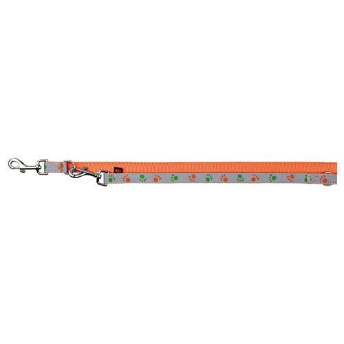 Отражающий поводок для собак - TRIXIE Silver Reflect Adjustable Lead, XS-S, 2 м