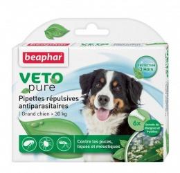 Средство против блох, клещей, комаров для собак от 30 кг - Beaphar Spot on 6 шт.