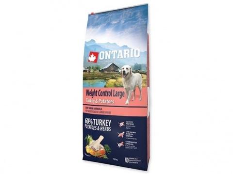 Корм для собак - ONTARIO Large Weight Control Turkey & Potatoes, 12 кг