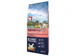 Корм для собак - ONTARIO Large Weight Control Turkey & Potatoes 12кг