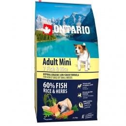 Корм для собак - Ontario Adult Mini Fish & Rice 6.5кг