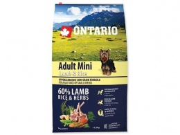 Корм для собак - ONTARIO Adult Mini Lamb & Rice 6.5кг