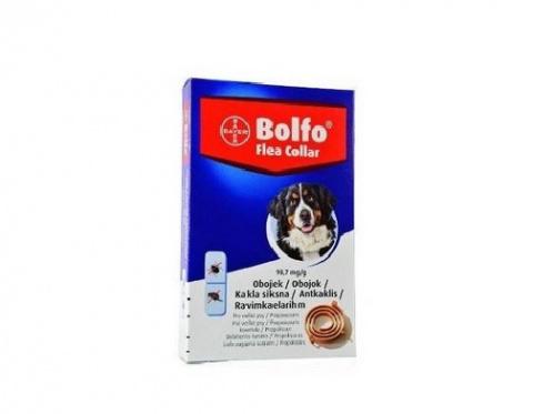Ошейник против блох, клещей для собак крупных пород – Bolfo 66–70 см, безрецептурный препарат, reģ. NR. VA - 072463/3  title=