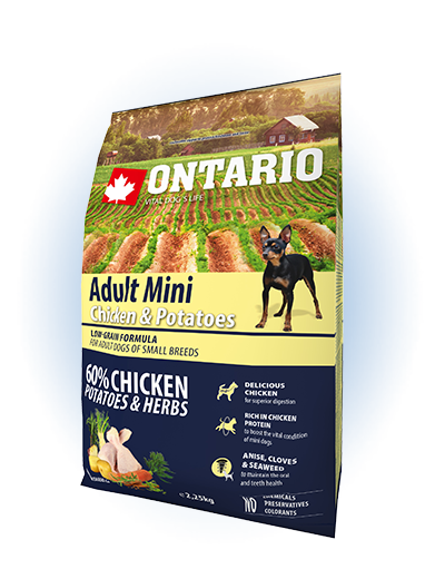Ontario Adult Mini Chicken & Potatoes 2,25kg