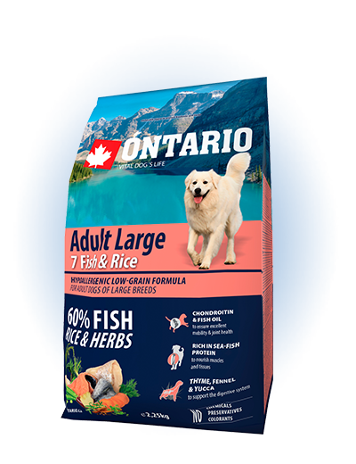 Ontario Adult Large Fish & Rice 2.25kg