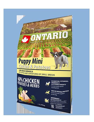 Ontario Puppy Mini Chicken & Potatoes 2,25kg