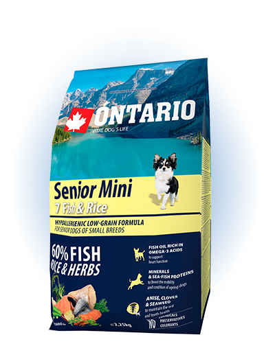 Ontario Senior Mini Fish & Rice 2.25kg