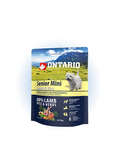 Ontario Senior Mini Lamb & Rice 0.75kg