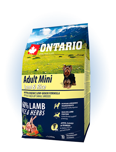 Ontario Adult Mini Lamb & Rice 2.25kg