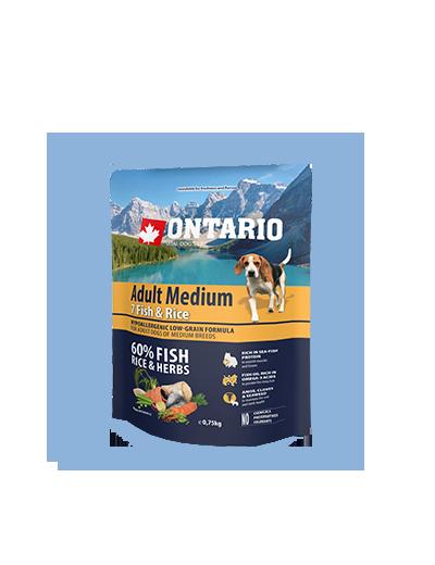Ontario Adult Medium Fish & Rice 0.75kg