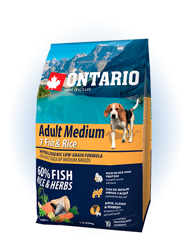 Ontario Adult Medium Fish & Rice 2.25kg