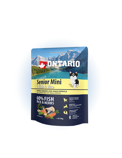 Ontario Senior Mini Fish & Rice 0.75kg