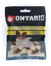 Ontario Rawhide Snack Braided Stick Mix 7,5cm 4 ks