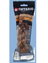 Ontario Rawhide Snack Twisted Stick 15cm 1ks