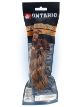 Ontario Rawhide Snack Twisted Stick 15cm 1ks