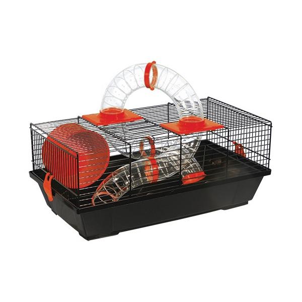 Klec Small Animals Libor černá s červenou výbavou