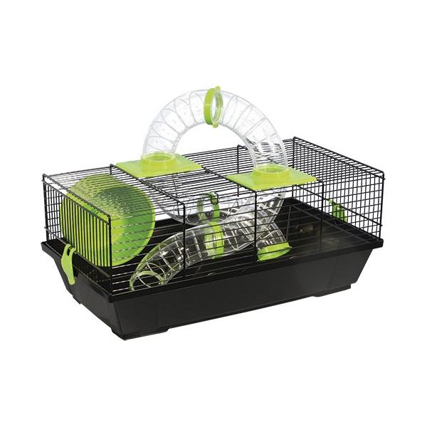 Klec Small Animals Libor černá se zelenou výbavou
