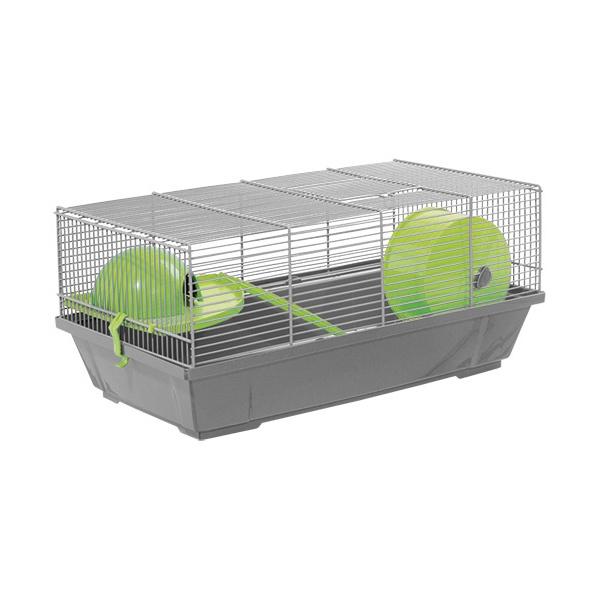 Klec Small Animals Erik šedá se zelenou výbavou